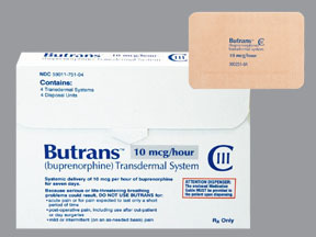 Butrans Transdermal Film ER 20mcg