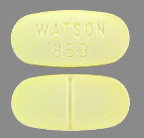 WATSON 853 (Hydrocodone 10mg 325mg)